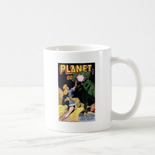 Tebeos ningunos del planeta 47 taza básica blanca