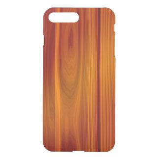 Teca de madera iPhone7 más el caso claro Fundas Para iPhone 7 Plus