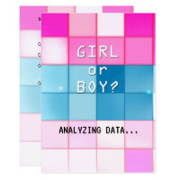 Tech Age Gender Reveal Invitation