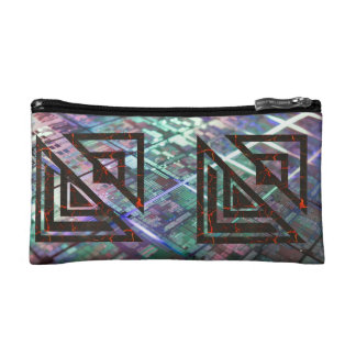 Tech and Symbol Makeup Bag