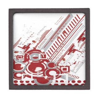 Tech background graphic design gift box