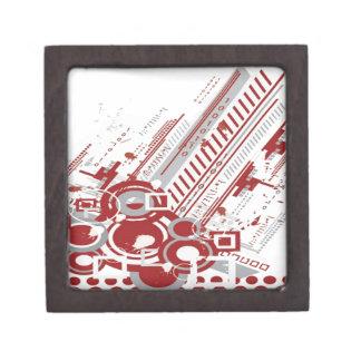 Tech background graphic design jewelry box