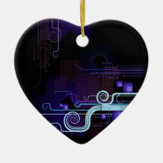 Tech Bloom Heart Ornament