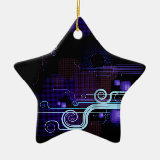 Tech Bloom Negative Star Ornament