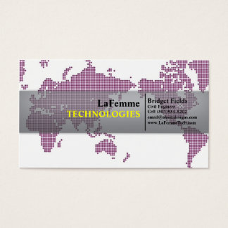 Tech Chic Pink Business Card