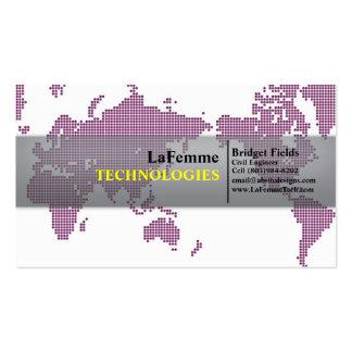 Tech Chic Pink Business Card Template