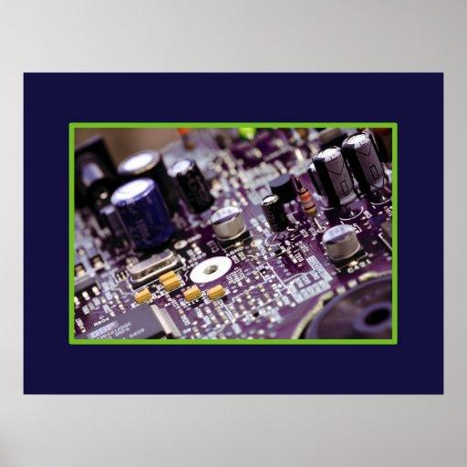 Tech circuits 1 poster
