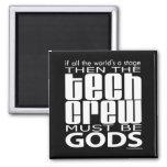 Tech Crew Gods 2 Inch Square Magnet