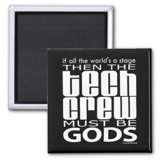 Tech Crew Gods 2 Inch Square Magnet