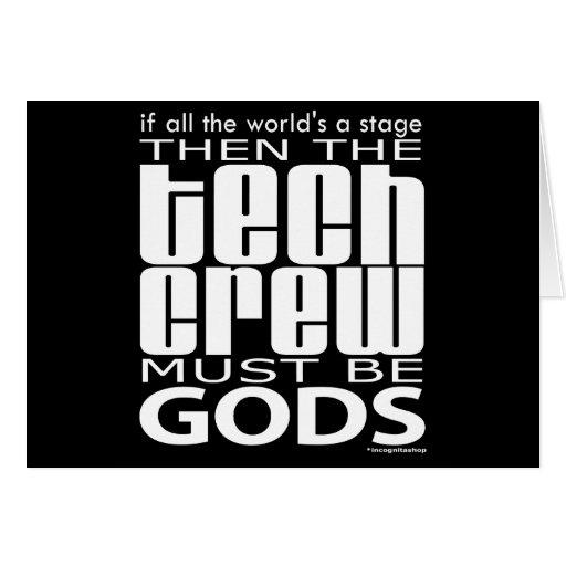 Tech Crew Gods Card