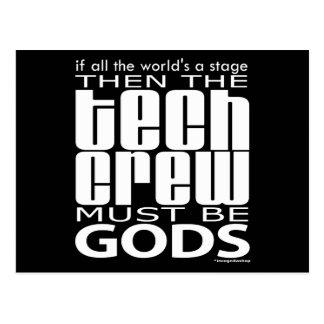 Tech Crew Gods Postcard