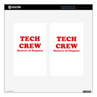 Tech Crew Masters of Disguise Decal For Kindle Fire