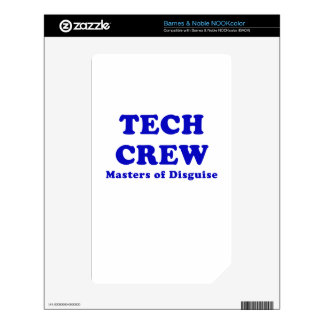 Tech Crew Masters of Disguise NOOK Color Decals