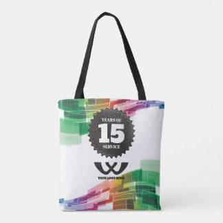 Tech curve 15 year employee anniversary award tote bag