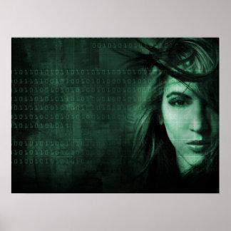 Tech girl poster