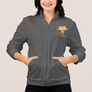 Tech-Girls Fleece Jacket with Orange Dot