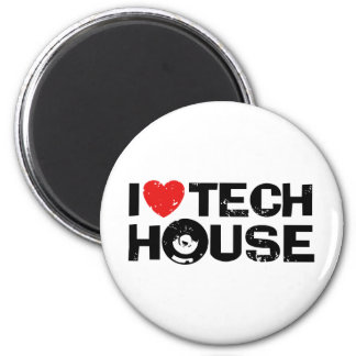 Tech House 2 Inch Round Magnet