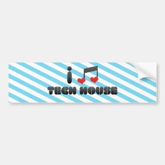Tech House Bumper Stickers