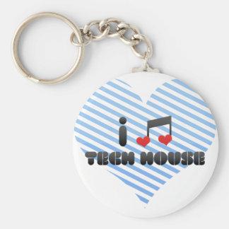Tech House Keychain
