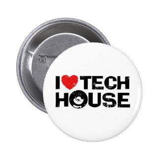Tech House Pinback Button