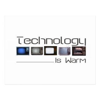 tech is warm postcard