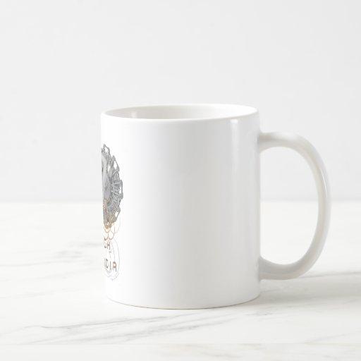 Tech noir pulp steampunk dame mug