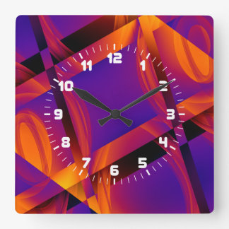 Tech Pattern Wall Clock