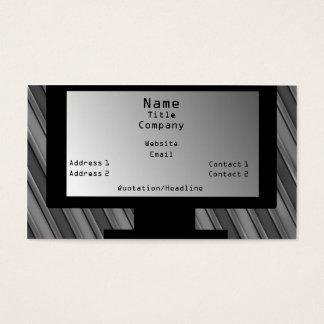Tech Savvy Business Card, Light Gray Business Card