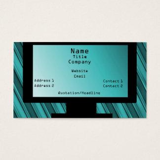 Tech Savvy Business Card, Teal Business Card