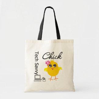 Tech Savvy Chick Tote Bag