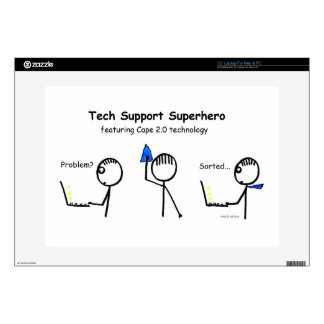 Tech Super Hero Decal For Laptop