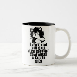 Tech Support 17 95 Two Toned Coffee Mug