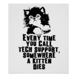 Tech Support $24.95 Graphic Art Wall Poster