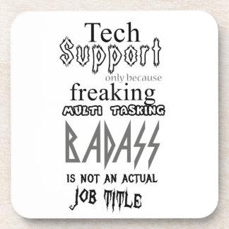 Tech Support badass Coaster