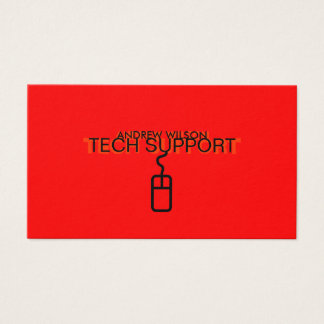Tech Support Business Card (Red Version)