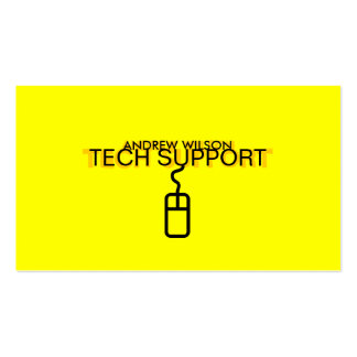 Tech Support Business Card (Yellow Version)