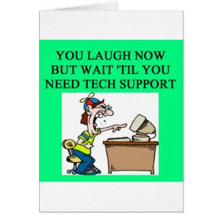 tech support card