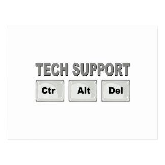 Tech Support Ctr Alt Del Postcard