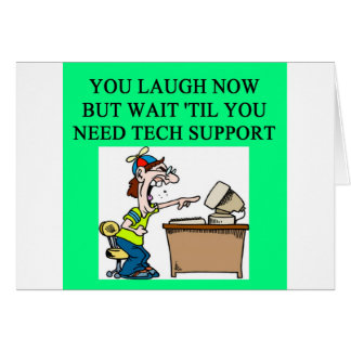 tech support greeting card