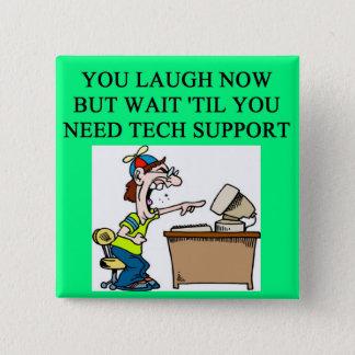 tech support joke button