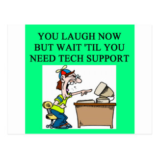 tech support joke postcard