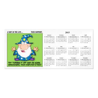 Tech Support Magic 2015 Calendar Magnetic Card