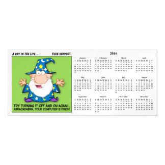Tech Support Magic Calendar Magnetic Card