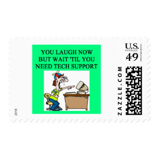 tech support postage stamps