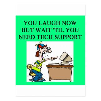 tech support postcard