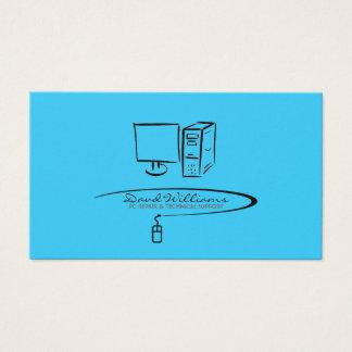 Tech Support/Repair Business Card (Blue Version)