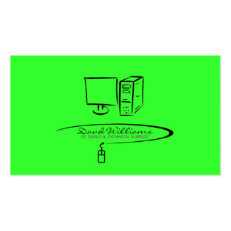 Tech Support/Repair Business Card (Green Version)