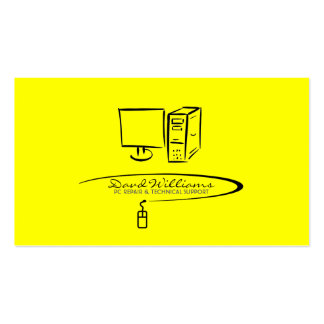 Tech Support/Repair Business Card (Yellow Version)