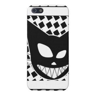 Techi Kitteh blanco y negro iPhone 5 Carcasas