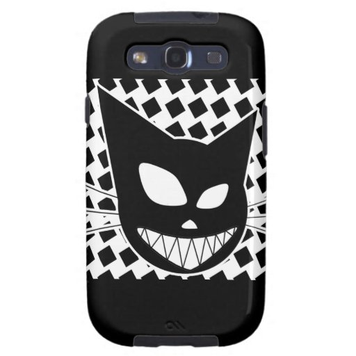 Techi Kitty Black and White Galaxy S3 Cases